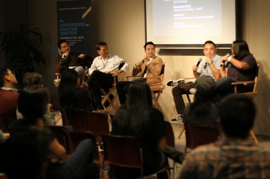A panel at last year's Conference for Creative Content.