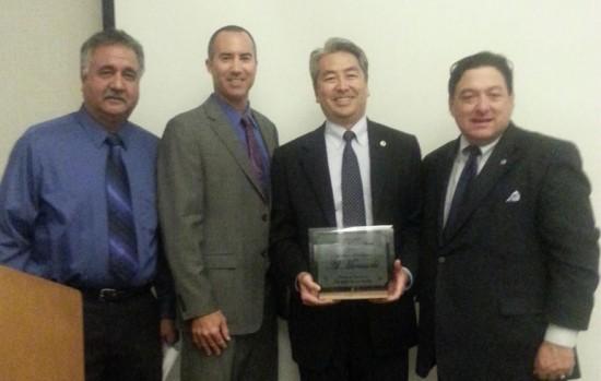 From left: Mike Herrera, Steve Napolitano, Al Muratsuchi, and Lou Baglietto at the Elks Lodge on Thursday night.