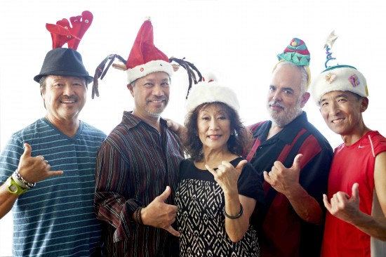 From left: Dan Kuramoto, Kimo Cornwell, June Kuramoto, Dean Cortez, Danny Yamamoto. Photo credit: Jaimee Itagaki