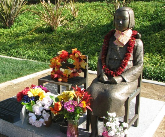 A comfort women monument was erected in Glendale's Central Park in 2013. J.K. YAMAMOTO/Rafu Shimpo