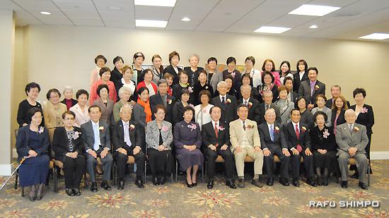 南加日系婦人会の2014年度新役員就任式および新年昼食会に集まった来賓と会員ら