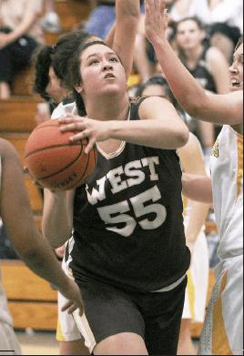 Kylie Fujioka led West with 17 points. (Photo courtesy Gay Kurahashi)