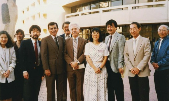 """Casey Kasem and Don Bustany (co-creators of """"American Top 40"""") at the 1991 Day of Remembrance with members of NCRR."""