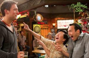 Guest star Ken Jeong (center) with Owen Benjamin and Steve Byrne. (TBS)