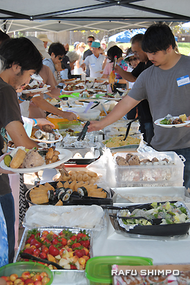 Participants enjoyed barbecue and homemade food.