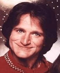 Robin Williams as Mork.