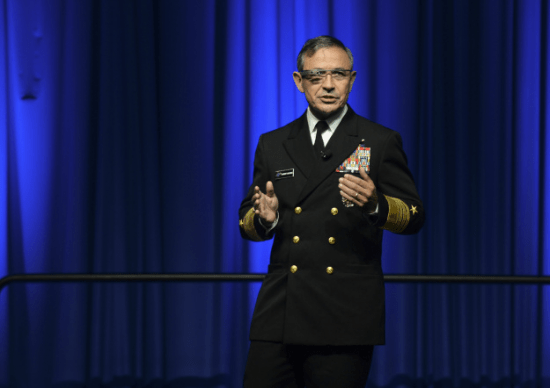 Adm. Harry B. Harris, commander of U.S. Pacific Fleet, at the 2014 WEST conference in San Diego on Feb. 11. (U.S. Navy photo)