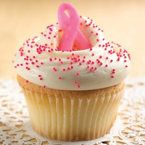 Stop by L.A.'s Magnolia Bakery for a delectable pink ribbon and sprinkles-topped cupcake to show support for breast cancer awareness. (Photo courtesy of Magnolia Bakery)