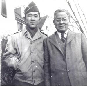 James Mitsumori and his father Nisuke.