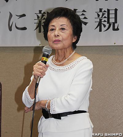 新会長に就任し、同会の活性会に向け意欲を示す山口淑子氏