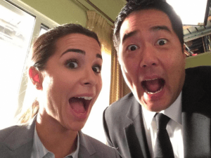 """Josie Loren and Tim Kang excited to work with each other on """"The Mentalist."""""""