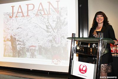 大阪とその周辺都市の魅力を紹介するJNTOのメアリー・ハロランさん