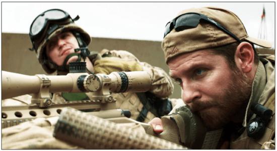 "Bradley Cooper (right) plays Chris Kyle in ""American Sniper."" (Warner Bros. Pictures)"