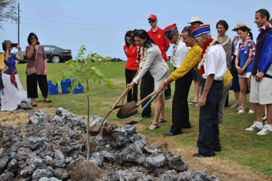 The presentation of the medals was followed by a tree-planting ceremony.