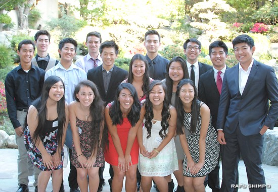 The graduates from the Nikkei Federation's Rising Stars Youth Leadership Program 12 at the Japanese American Cultural and Community Center.