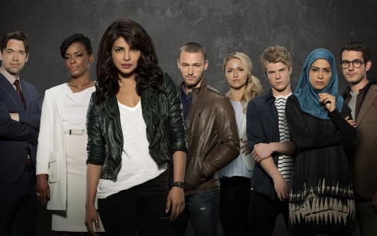 The cast of ABC's Quantico, starring Priyanka Chopra.