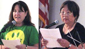 Writers Naomi Yoshida and Sanaye Furukawa.