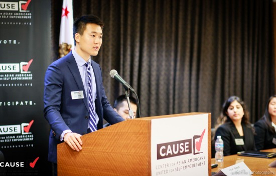 Takuya Maeda speaks on what he hopes to accomplish for the summer at the CAUSE Leadership Academy Kickoff Luncheon on June 19.