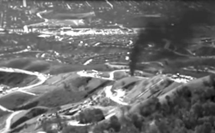 環境防衛基金が公表した写真によるとガス施設からガスが大量に溢れ出ているのが分かる