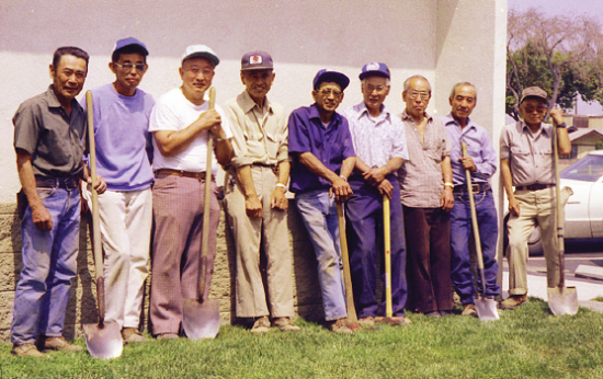 In 1984, Gardena Valley Gardeners' Association volunteers beautified the area around the Los Angeles County Library in Carson, which was near the Velodrome where Olympic bicycling events were held.
