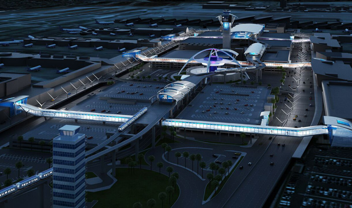 LAX近代化計画の完成予想図