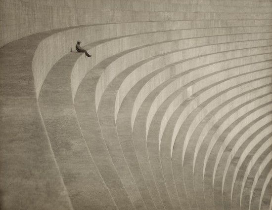 """Hiromu Kira, """"The Thinker,"""" c. 1930. Gelatin silver print. Collection of the Los Angeles County Museum of Art. (From """"Making Waves"""")"""
