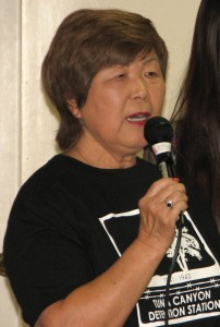 Nancy Oda of the Tuna Canyon Detention Station Coalition.