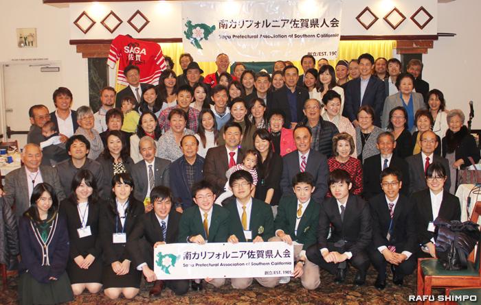 使節団一行と南加佐賀県人会のメンバーで記念撮影