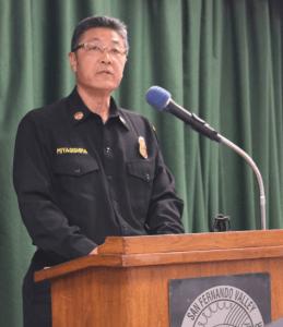 Los Angeles Fire Department Battalion Chief Glenn Miyagishima