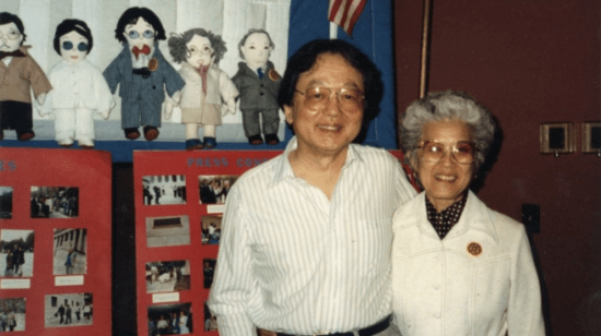 """Archivist and activist Aiko Herzig Yoshinaga, pictured with William Hohri of the National Council for Japanese American Redress, is the subject of """"Rebel with a Cause."""""""