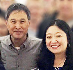 Candidates Eric Nakamura and Naomi Kageyama