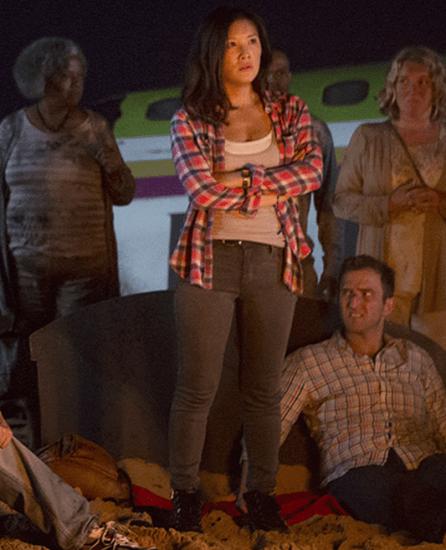 "Ally Maki plays Jess on ""Wrecked."""
