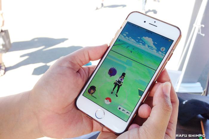 スマートフォン向けゲームアプリ「ポケモンゴー」