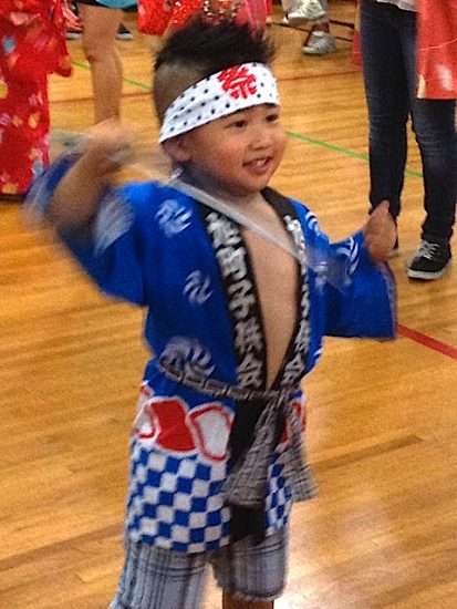 A young dancer at last year's Bon Odori. All ages are invited to participate.