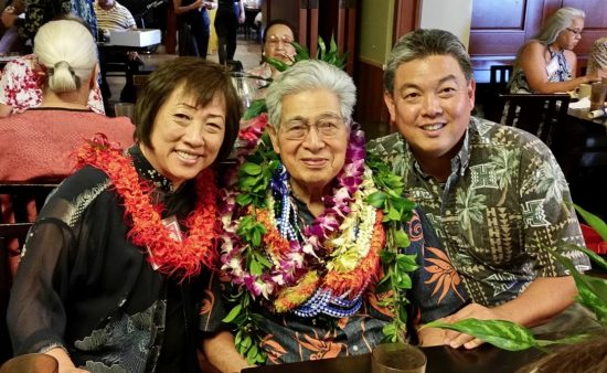 Rep. Mark Takai with former Sen. Daniel Akaka and former Rep. Colleen Hanabusa, both of Hawaii.
