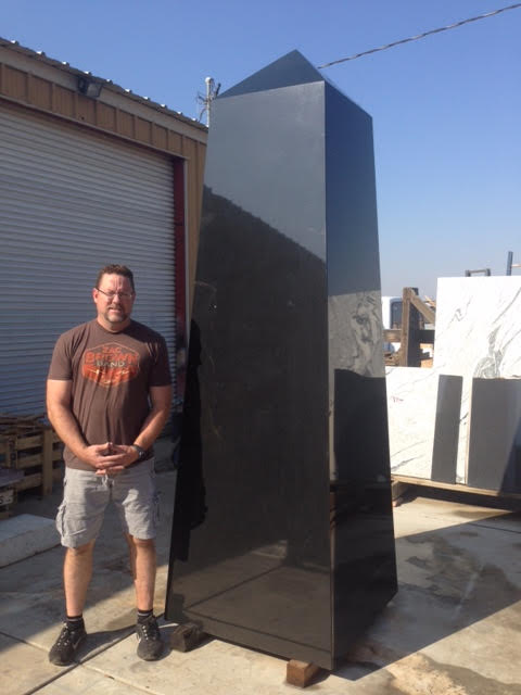 Memorialist David Williams will engrave all four sides of the VJAMM obelisk.