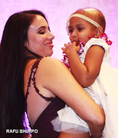 Donor Noemi Alsup embraces transplant recipient Zoe Lopez at the annual A3M Starnight gala on Oct. 15 in Long Beach.