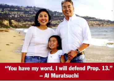 Detail of a rebuttal mailer from Muratsuchi's campaign.