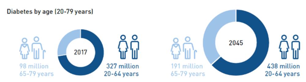 Global Diabetes Epidemic Forecast by Age Range