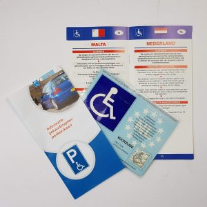 Informatie en folders over het gebruik van een gehandicaptenparkeerkaart in europa