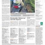 Pagina 15 uit Het Kontakt van Harderwijk van 14 augustus 2019 met het artikel Raadsleden rollen door Harderwijk over Ralph Stoove die politici meenam in een rolstoel
