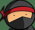 Cartoon picture of a ninja