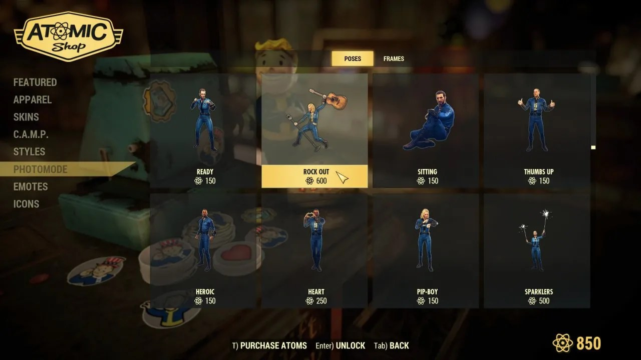 Fallout 76 in-game store
