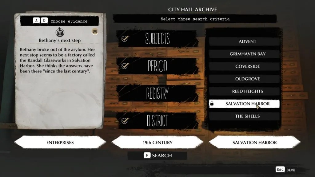 The Sinking City - Archives Research