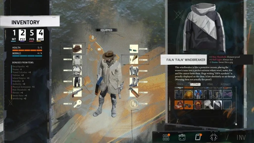 Disco Elysium Clothing Items