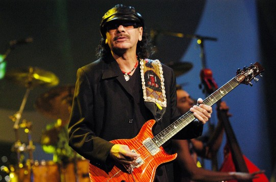 Carlos Santana during MTV Video Music Awards Latinoamerica 2002 - Show at Jackie Gleason Theater in Miami, FL, United States. (Photo by Jeff Kravitz/FilmMagic)
