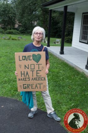 Newtown, Bucks County, PA... Members of the county gather to hold a vigil for peace in the wake of the violence in Charlottesville, VA