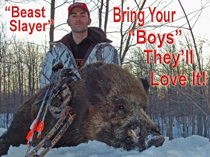 Boar Hunting in the Winter Snows