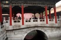 Les jardins chinois jouent sur la roche et l'eau