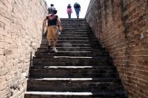 Regardez la hauteur des marches, quand je dis inégales